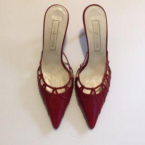 Sergio Rossi red heels sandal